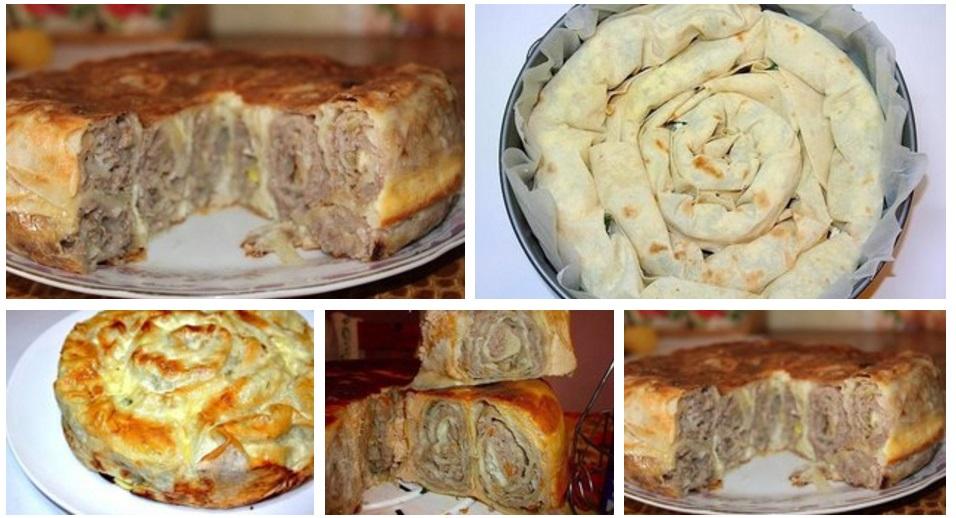 Пирог лаваша рецепты фото пошагово