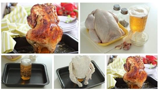Рецепты курица в духовке с пивом рецепт