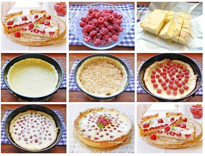Песочный пирог с малиной рецепты 20