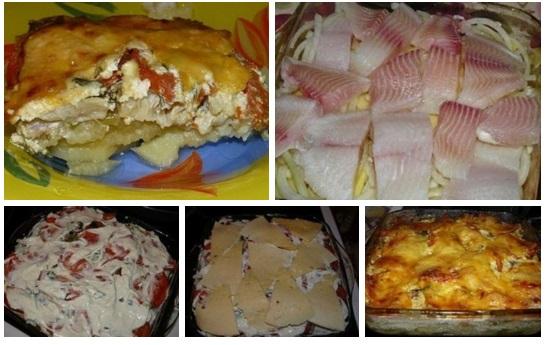 Запеканка из рыбы с картофелем в духовке пошаговый с фото